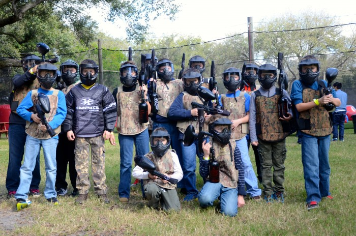 kid paintball party