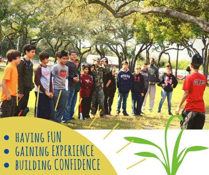 Summer camps in Tampa for kids, confidence building paintball